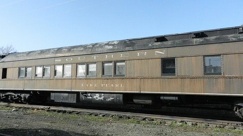 1923 Lake Pearl Pullman Car, a deluxe sleeping car from the golden age of passenger rail travel.