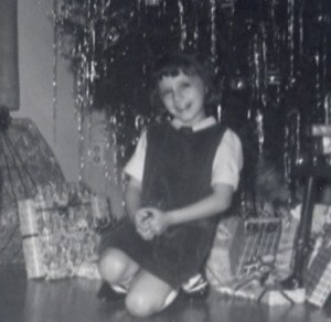 Kathy on Christmas Eve 1964