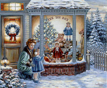 Cross Stitch Christmas Toy Store