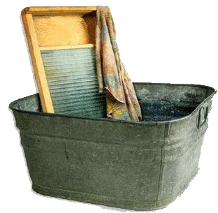 Tub and washboard