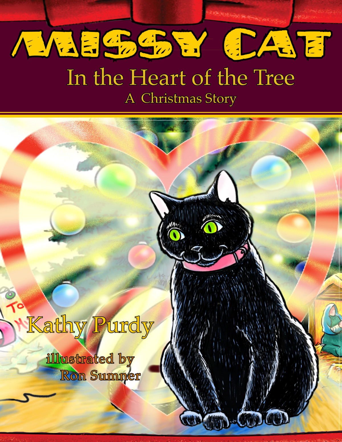 Missy Cat in the Heart of the Tree A Christmas Story By Katherine Purdy Cover