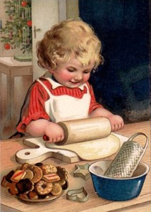 christmas-girl-rolling-cookies