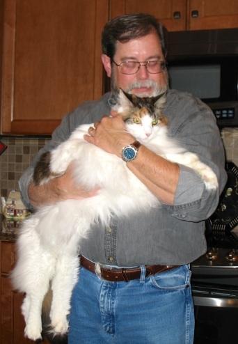 John holding sweet Ruby