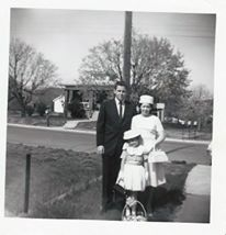 Mom, Dad and I on Easter 1964