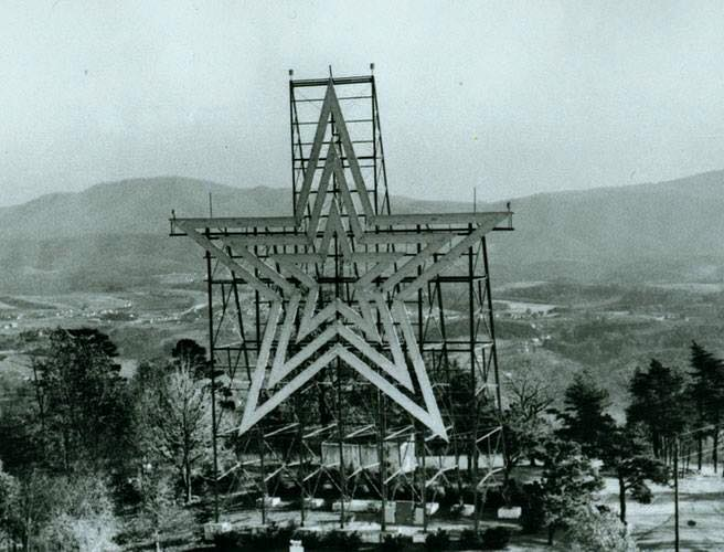 Mill Mountain Star in 1949